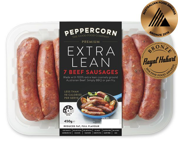 PFC-PExL-Beef-Sausages-450g-AwARDS-605x530px