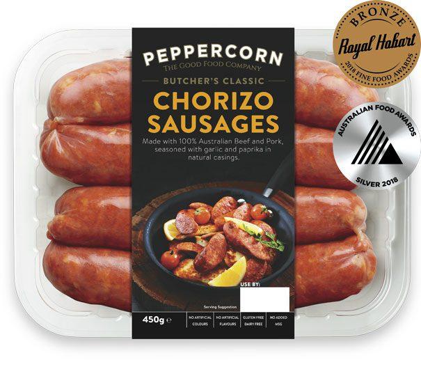 PFCBC-Chorizo-Sausages-450g-AwARDS-605x530px
